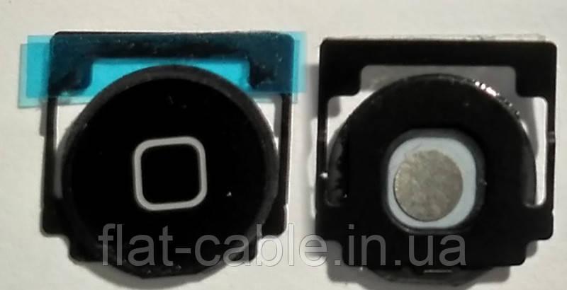 Кнопка home для планшета Apple iPad 3/4 чорна