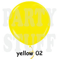 """Шар сюрприз Gemar G300 39"""" (100 см) Желтый пастель"""