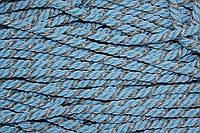 Канат декоративный ПЭ 10 мм (50м) голубой+серебро , фото 1