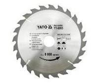 YATO Диск пильний победітовий по дереву, пластику : 205х18х3,2x2,0мм, 24 зуби