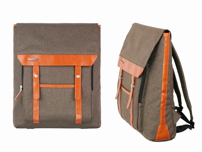 Рюкзак городской коричневый Dasfour