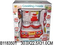 Игрушечная плита на батарейках, в комплекте посуда, продукты. Размер в коробке 30,0*22,5*31,0см