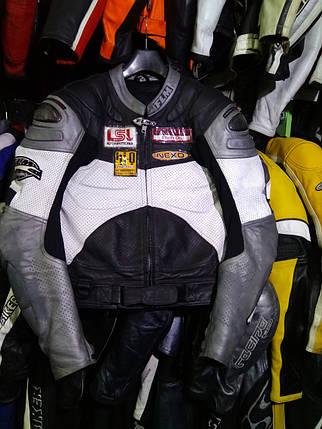 Мотокуртка бу кожа Flm сгорбом, фото 2