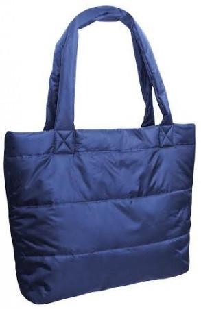Сумка женская стеганая под пуховик Dontlookbag (Донтлукбэг) «Дутая» серый; черный, синий