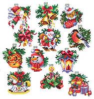 """Наборы для вышивания крестом Мир Вышивки """"Новогодние игрушки"""" Н-17"""
