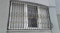 Решетка полукруглая с кованными элементами, фото 1