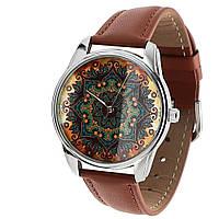 """Часы ZIZ маст-хэв """"Золотые узоры"""" (коричневый, серебро) 1402803"""