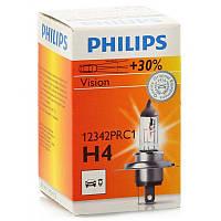 Автолампа H4 12V 60/55W +30% Philips