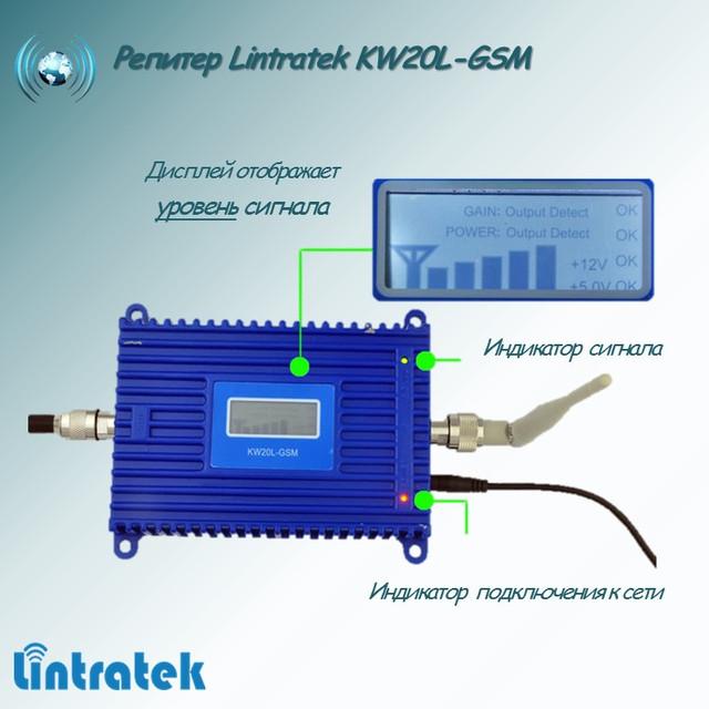 Значение индикаторов репитера Lintratek KW20L-GSM