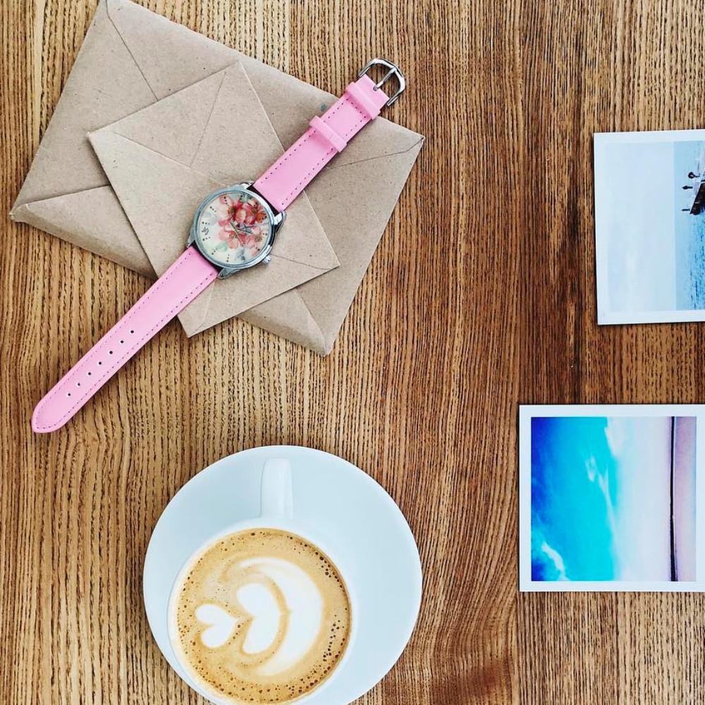 """Часы ZIZ маст-хэв """"Цветение"""" (розовый, серебро) 1412113"""