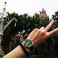 """Часы ZIZ маст-хэв """"Пальмовые листья"""" (черный, серебро) 1412301"""