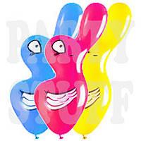 Воздушные шарики Gemar Утка (25x75 см), 50 шт, фото 1