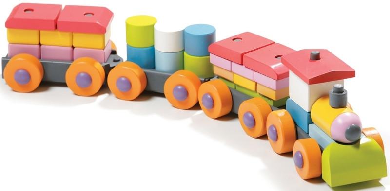 Детский паровоз (деревянный)