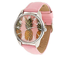 "Часы ZIZ маст-хэв ""Ананас"" (розовый, серебро) 1412713, фото 1"