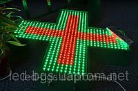 Аптечный крест с часами 500х500