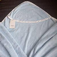 Полотенце с капюшоном уголок для купания новорожденного 100/100
