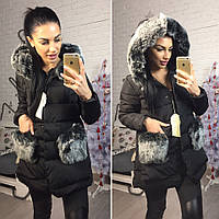 Курточка зимняя с меховой отделкой