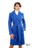 Демисезонное женское пальто средней длины Тур-7