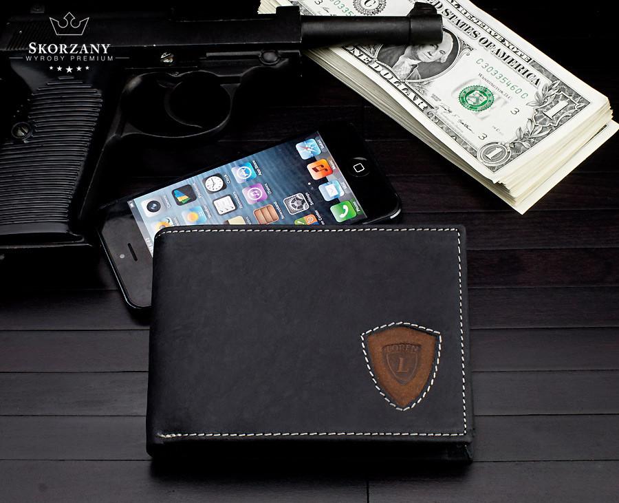 НОВИНКА! Практичний чоловічий гаманець Loren натур. шкіра