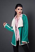Молодежная стильная куртка-кардиган на запах