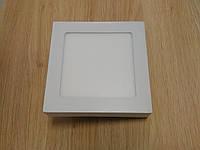 Светильник накладной LED  Downlight  6W 4200K  размер 120*120 мм квадратный  алюминиевый корпус