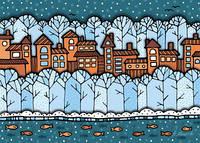 """Листівка """"Зимове місто"""""""