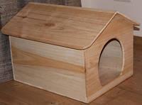 Домик для кошек из натурального дерева № 1,  Н360, 400*500