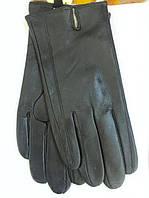Мужские перчатки из натуральной мягкой кожи черного цвета