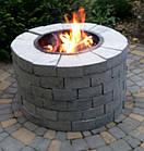 Уличный очаг, садовый камин-мангал каменный круглый, фото 3