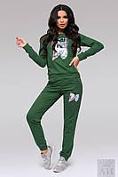 """Модный зеленый  спортивный костюм """"WISH DO"""". Арт-9517/17"""