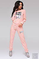 "Модный спортивный костюм ""WISH DO"", цвет пудра. Арт-9517/17"