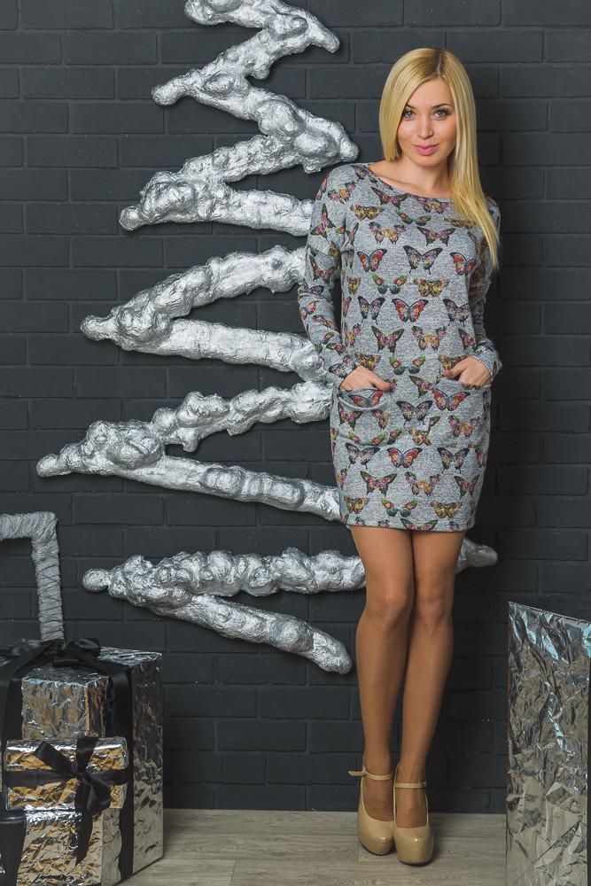 Трикотажное женское платье-туника