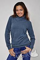 Пуловер для беременных и кормления на змейках (цвет - джинс)