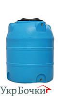 Емкость пластиковая для воды 300 литров, вертикальный бак синий