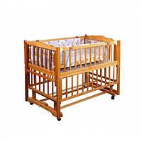 Детская деревянная кроватка трансформер Geoby 112211