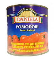 Помидоры Daniela Pomodori Pelati Italiani (Чищеные в собственном соку) 2 550 г.