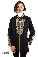 Демисезонное женское пальто из кашемира средней длины Пд-34z