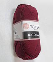 Пряжа Бегонія Begonia YarnArt 100% бавовна  бордо№ 112