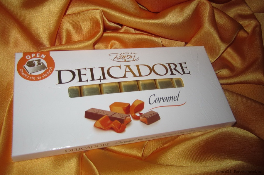 Шоколад Delicadore Caramel (Деликадор карамель) 200 г. Baron Польша
