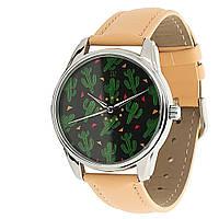 """Часы ZIZ маст-хэв """"Кактусы"""" (кремовый, серебро) 1413305"""