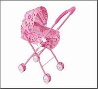 Игрушечная коляска для кукол металлическая в пакете, размер 33,5*26,5*55,0см