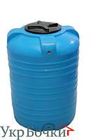 Емкость пластиковая для воды 500 литров, вертикальный бак синий