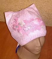 """Модная весенняя шапка для девочек """"Кошка"""", фото 1"""
