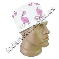 """Шапочка медицинская принт """"Фламинго розовый"""""""