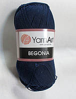 Пряжа Бегонія Begonia YarnArt 100% бавовна   темно синя № 0066
