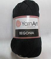 Пряжа Бегония Begonia YarnArt 100% хлопок чорний№ 999 Нитки для вязания хлопковые х/б