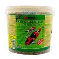Tropical KOI & GoldFish Vegetable Sticks  21л(1,5кг)-корм для прудовых рыб (40348)