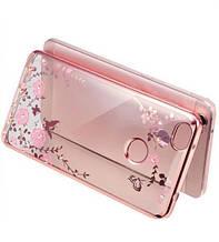Чехол накладка силиконовый TPU Luxury Flower для Xiaomi Mi Max розовый