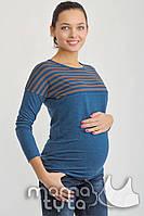 Лонгслив для беременных и кормления (петроль)