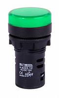 Светосигнальная арматура e.ad22.12.green Ø22мм 12В АС/DC зелена